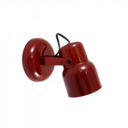 Ros carilo spot 1 luz e27 rojo metalizado