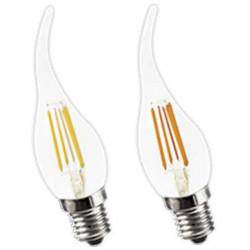 Lámpara led tbc vintage velita e14 de 4w luz cálida