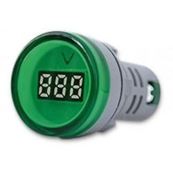 Mini tbcin ad22ds voltimetro digital 22mm 80-500vca verde