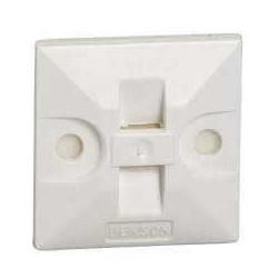 Fijadora dexson base 25x25 mm con adhesivo blanco