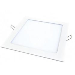 Artefacto de embutir - panel  led cuadrado de 20w