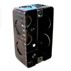Caja metalica liviana  rectangular 100x 50x 43 mm ch 20
