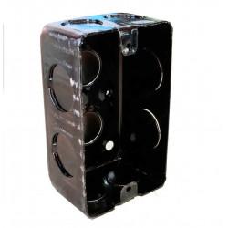 Caja metalica liviana  rectangular 100x 50x 43mm ch 20