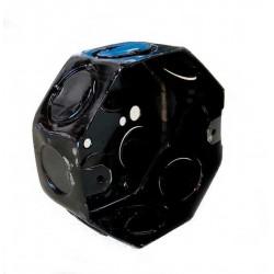 Caja metalica liviana  octogonal chica diametro 80 x 43mm