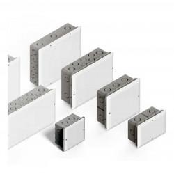 Genrod caja paso pvc embutir 10x10cms c/tapa blanca