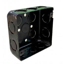 Caja metalica liviana  cuadrada 100 x 100 x 43 mm