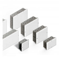 Caja paso pvc embutir genrod 16x 18 cm con tapa blanca