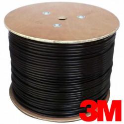 Cable utp 3m cat5 para exteriores negro
