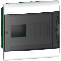 Caja plastica embutir 8 polos puerta fume