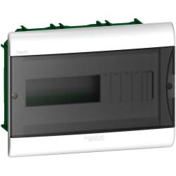 Caja plastica embutir 12 polos puerta fume