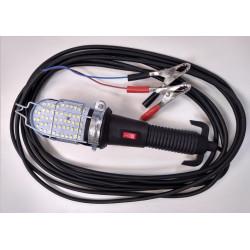 Guardalámparas led para auto con cable 5m con llave y pinza