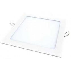 Artefacto de embutir - panel  led cuadrado de 12w