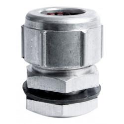 Prensacable de aluminio de 13 mm   1/2 orificio 8 mm c/tuer