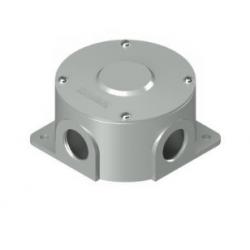 Caja multiple multicontrol redonda uso interior con tapa 3/4