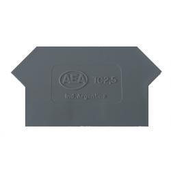A.e.a. separador p/borne s/tornillo  4 mm2 gris   281-337