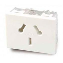 Módulo toma corriente cambre sxxi 10a blanco combinado
