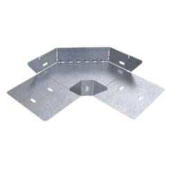 Curva plana basica 90° perforada 200mm con clips y flags