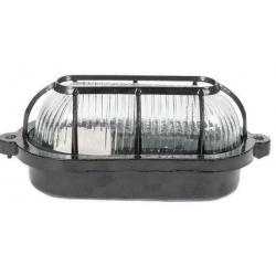 Tortuga ovalada de aluminio 60w negro