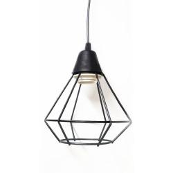 Colgante tipo jaula una lampara
