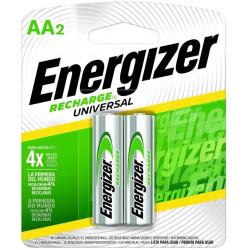 Pila aa recargable energizer bp2 2300ma 2 unidades blister