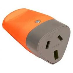 Ficha axial exultt hembra color naranja 10a 250v