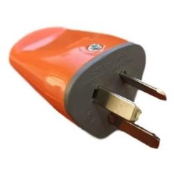Exultt-ficha axial macho naranja 10a 250v