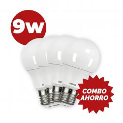 COMBO AHORRO 4 LAMPARAS OSRAM LED 9W 75W