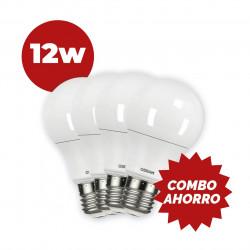 COMBO AHORRO 4 LAMPARAS OSRAM LED 12W 90W