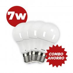 COMBO AHORRO 4 LAMPARAS OSRAM LED 7W 60W