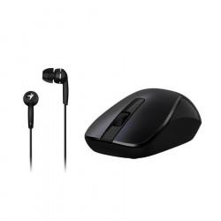Mouse genius wireless optico + auricular mh-7018
