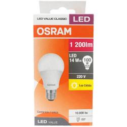 Lámpara led osram bulbo e27 de 14w luz cálida