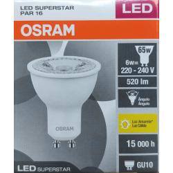 Lámpara led osram par16 gu10 de 6w luz cálida