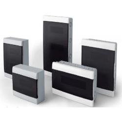 Q energy caja tm pvc exterior  4 mod. fume marco gris