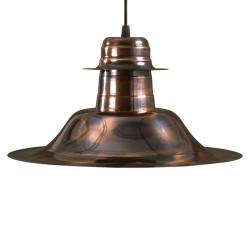 Colgante ferrolux sombrero c-115cob e27 chapa 35cm cobre