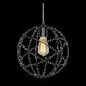 Cival 3000 jaulitas colgante orbital 35cms e27 1l negro