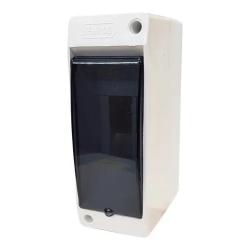 Hp caja tm pvc din exterior c/tapa 1 a 2 mod.blanco