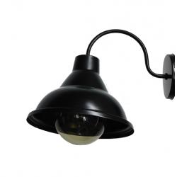 Aplique cival valle escalonado 24cms 1 luz negro