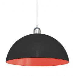 Colgante cival geo 1 luz 40cms chapa negro interior rojo