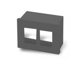 Caja cambre de aloje doble sxxi para 2 modulos rj45 gris