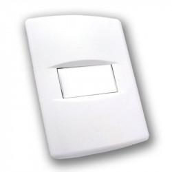 Tapa sica life para bastidor de 1 módulo 5x5 5x10 blanco