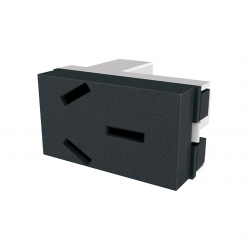 Modulo toma corriente jeluz platinum polarizado 20a negro
