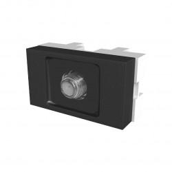 Módulo toma tv jeluz platinum con pin fino negro