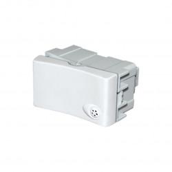 Módulo interruptor jeluz de 1 punto con resalte blanco