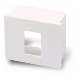 S.xxi caja de aloje para 1 modulo rj45 blanco