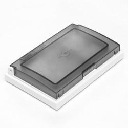 Tapa y bastidor cambre sxxi de 4 módulos ip55 y adaptador...