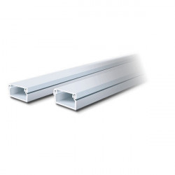 Cablecanal dexson dxn10021 10x10mm con adhesivo blanco
