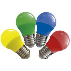 Lámpara led tbc gota de 3w luz verde e27