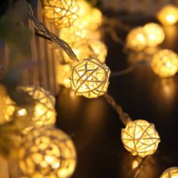 Luces navideñas led x10 bolas 5.5cm blanco frio