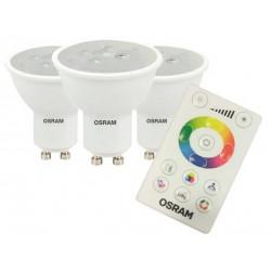 Kit x 3 lamparas dicroicas osram led par16 rgb w 4.5w