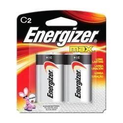 Pila c energizer max mediana e93bp2 1.5v 2 unidades blister